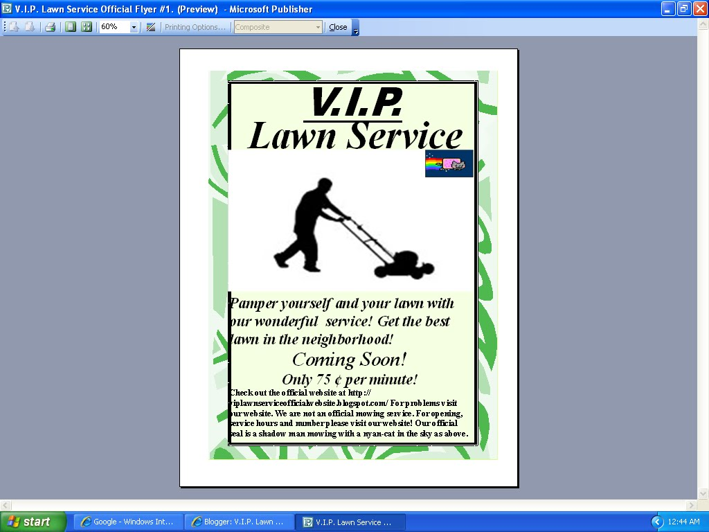 Lawn care flyers examples joy studio design gallery for Vip lawn mowing services