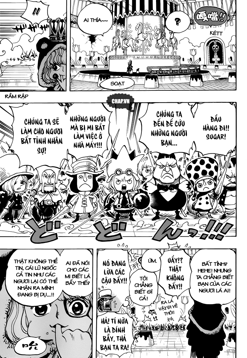 One Piece Chapter 738: Binh đoàn Trebol: Chỉ huy đặc biệt Sugar 010