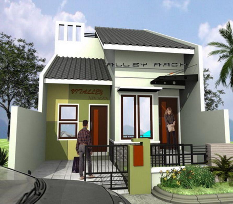 fasad 3d rumah type 36 minimalis idaman