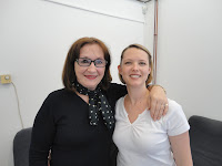 Lucinda Cracknell with Healing Hands Network Manager Nadija in Sarajevo
