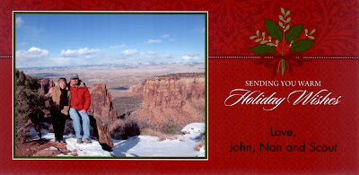 Christmas Card 2012 from John, Nan and Scout