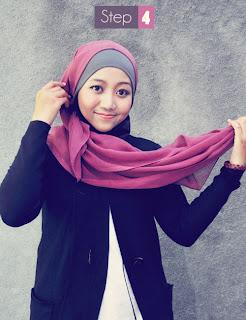 Cara Memakai Jilbab/Kerudung Segi Empat + Gambar