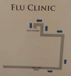 map to a flu clinic