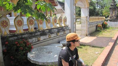 ルアンパバーンの寺院と僕