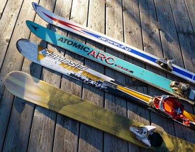 Historical ski quiver, from The Real Jay Peak Ski Report