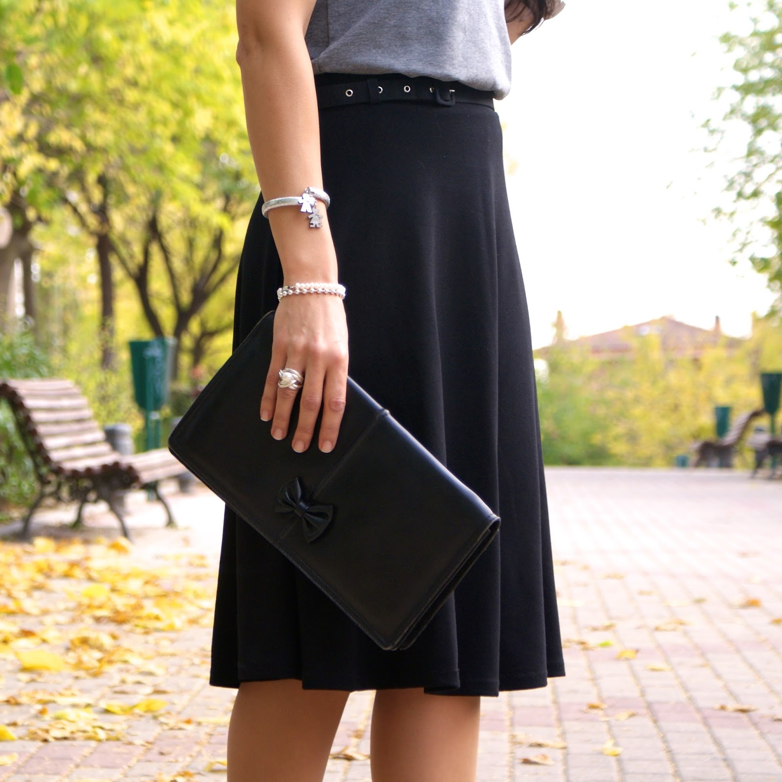LOOK LADY MIDI SKIRT