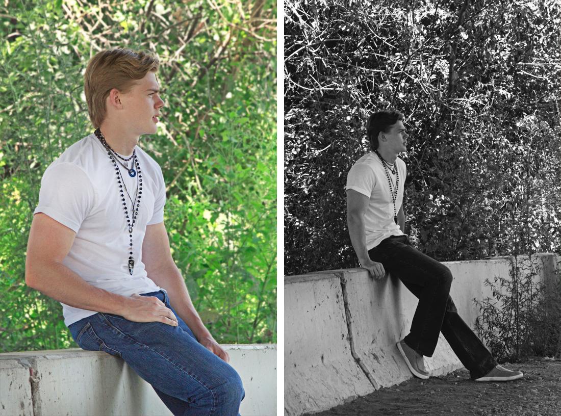retro rocker men's style. Model credit: Ryan Folliard