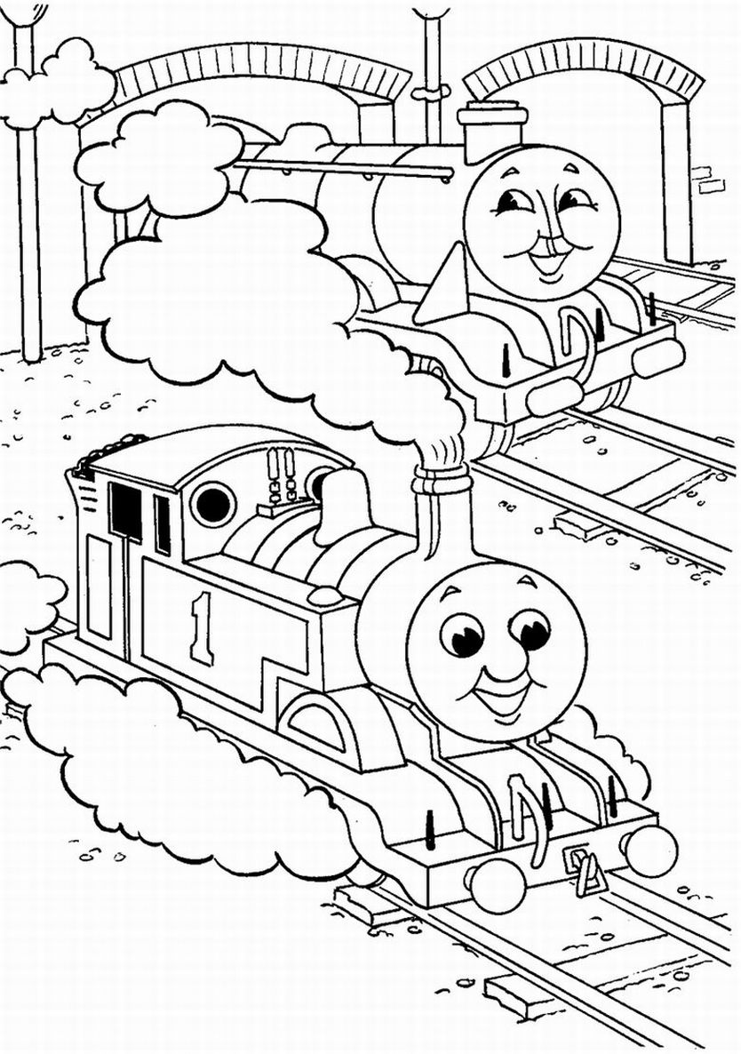 Thomas the tank engine coloring pages team colors for Thomas the train color page