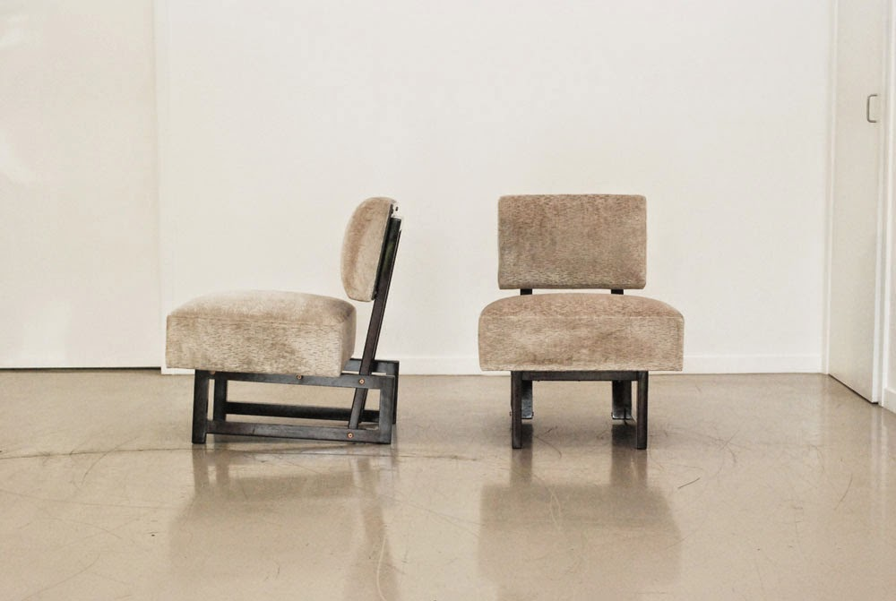 classic design Before After Andre Sornay Chairs Modernist Chairs