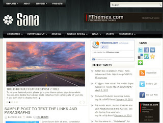 WordPress-Template Sana