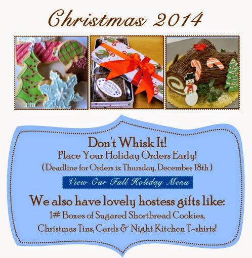 http://www.nightkitchenbakery.com/holiday_menu.php