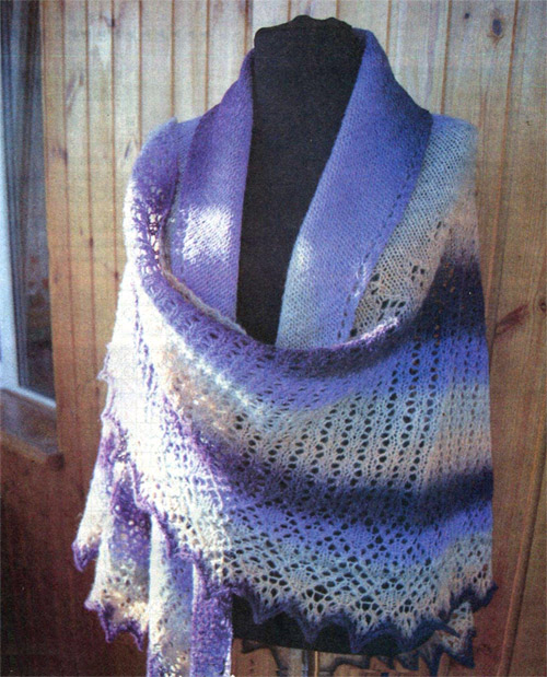 Shawl - Crochet, knitting