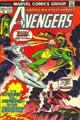 Avengers #116, Silver Surfer vs the Vision