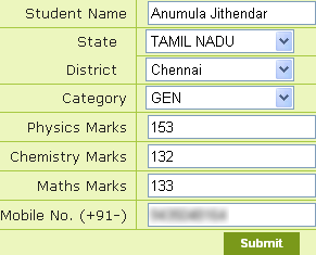 Resonance IIT JEE Rank Predictor