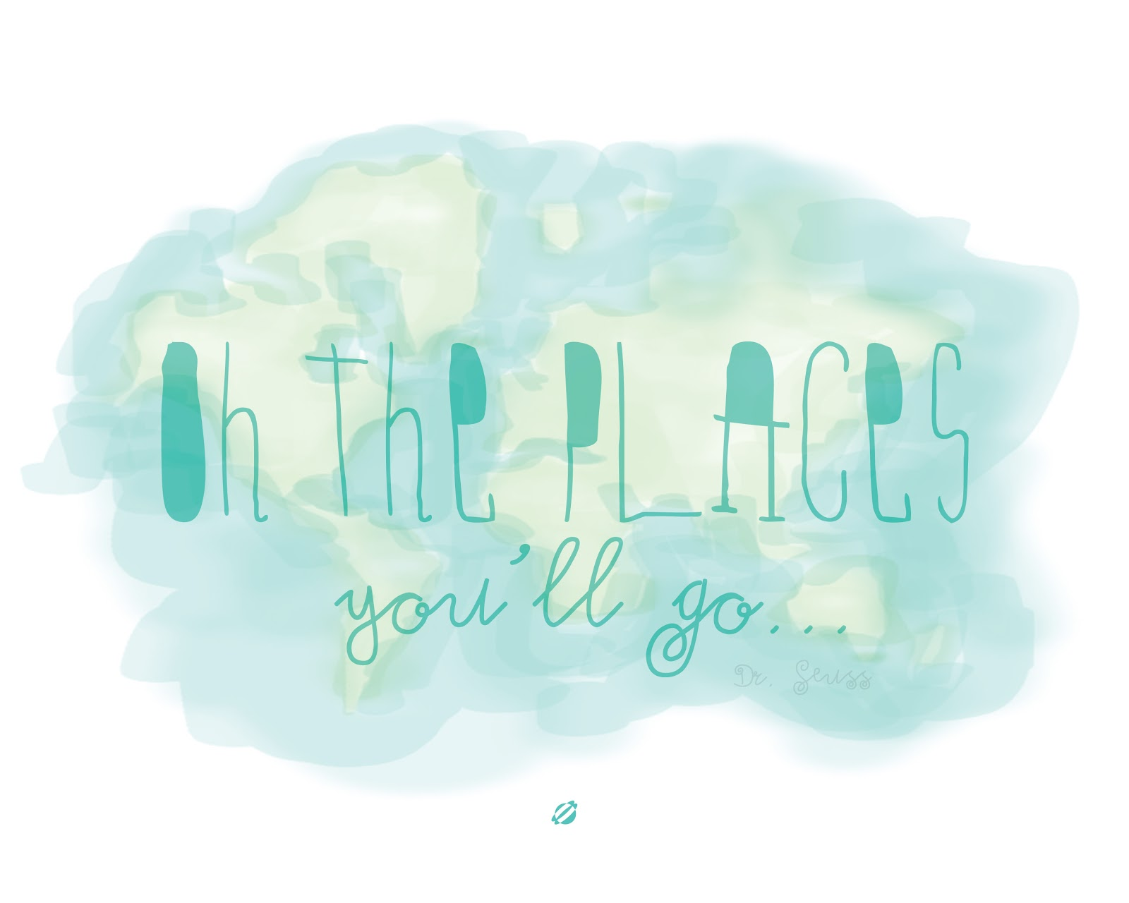LostBumblebee ©2014 Oh The Places You'll Go- Dr. Seuss Free Printable Personal Use only.