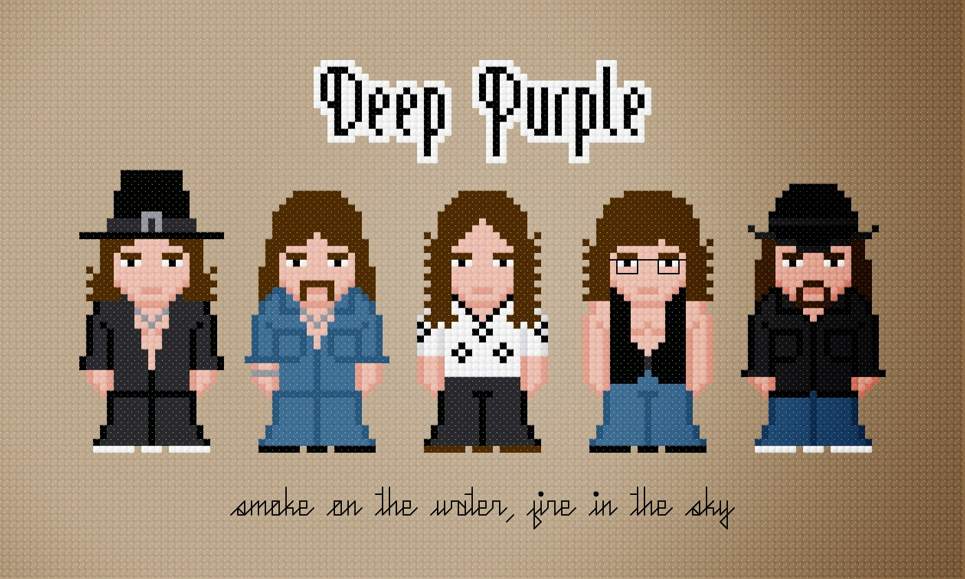 Deep Purple - Cross Stitch PDF Pattern Download