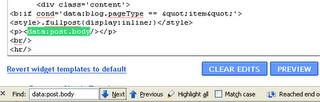 Tips Mengedit HTML Blogspot