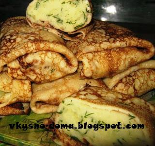 Блинчики с картофелем и зеленью