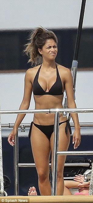 Nicole Scherzinger bikini on yacht in Monaco with Lewis Hamilton 1
