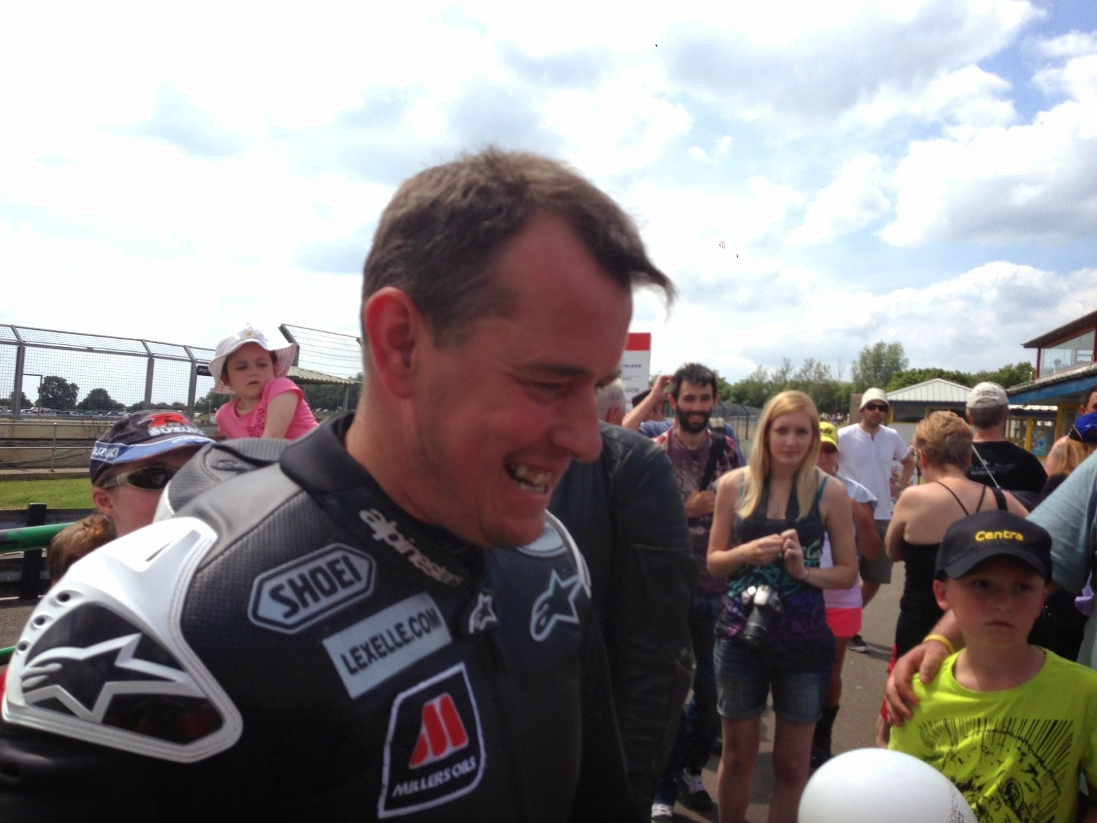 John McGuinness at Castle Combe Grand National Motorcycle Race Meeting