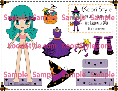 Koori KooriStyle Kawaii Paper Doll Goods PaperDoll Cute Etsy DIY Montly Wishes Goals