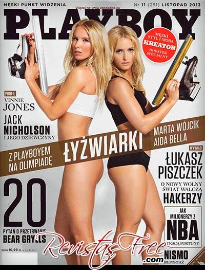 Marta Wojcik & Aida Bella - Playboy Poland - Novembro 2013