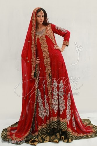 Jugaan Red Maroon Bridal Dresses-14/15