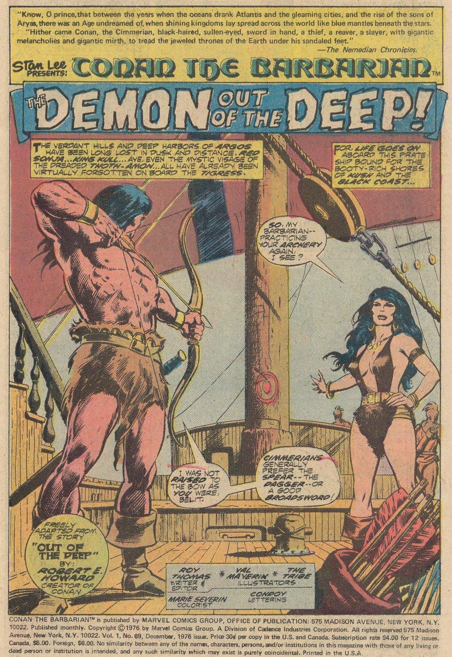 Conan the Barbarian (1970) Issue #69 #81 - English 2