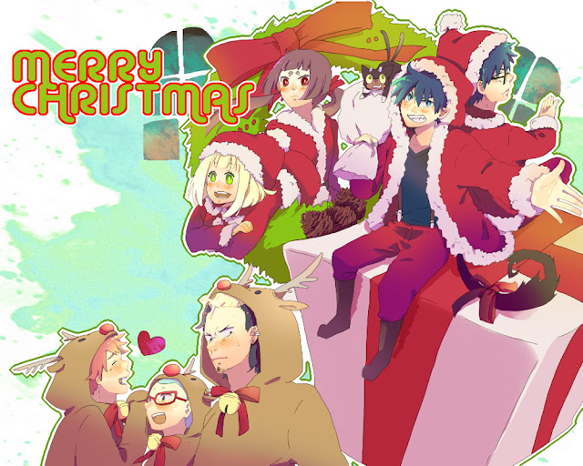 Ao no Exorcyist Merry Christmas Wallpaper 0001