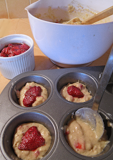 Filling the Muffin Tins