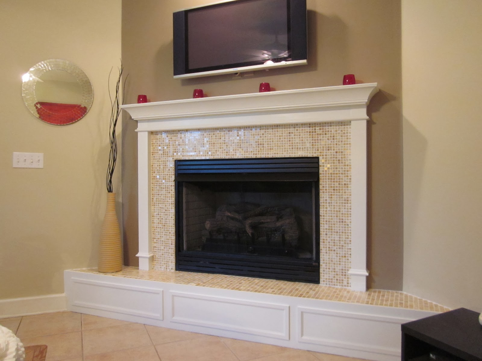Lipstick And A Brad Nailer Are The Only Essentials Stacked Stone Fireplace Wall Completed