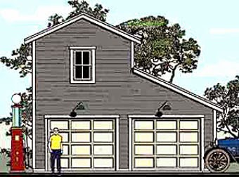 Half Monitor Style Garage Plan