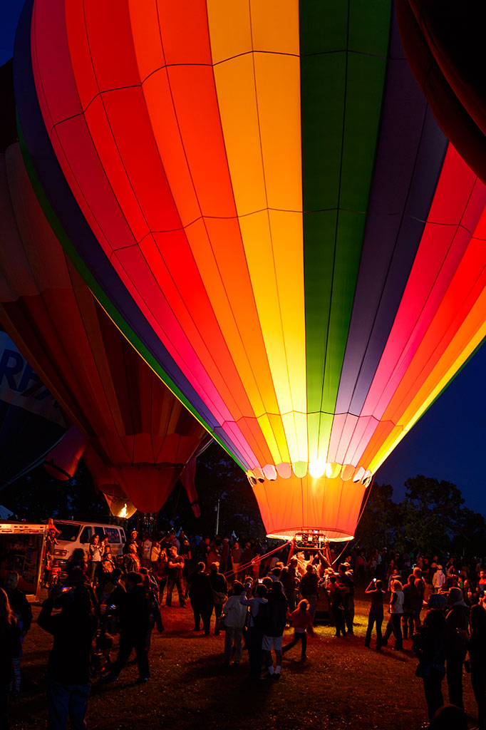 Balloon Night Glow at Carolina BalloonFest