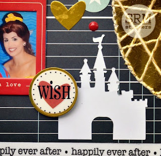 SRM Stickers Blog - Disney Layout with String Art by Christine - #disney #layout #twine #shimmer #stickers