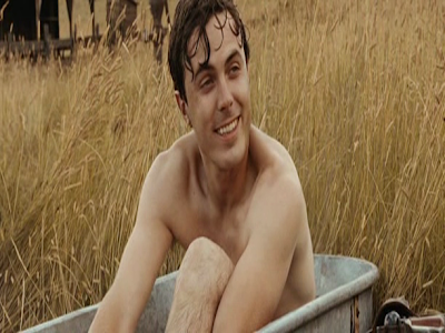 Casey Affleck as Robert Ford, Bathing in open air, Directed by Andrew Dominik, The Assassination of Jesse James by the Coward Robert Ford
