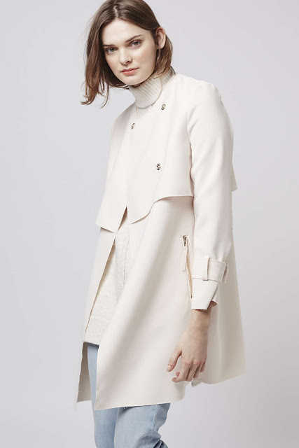 topshop white coat, white trench coat,