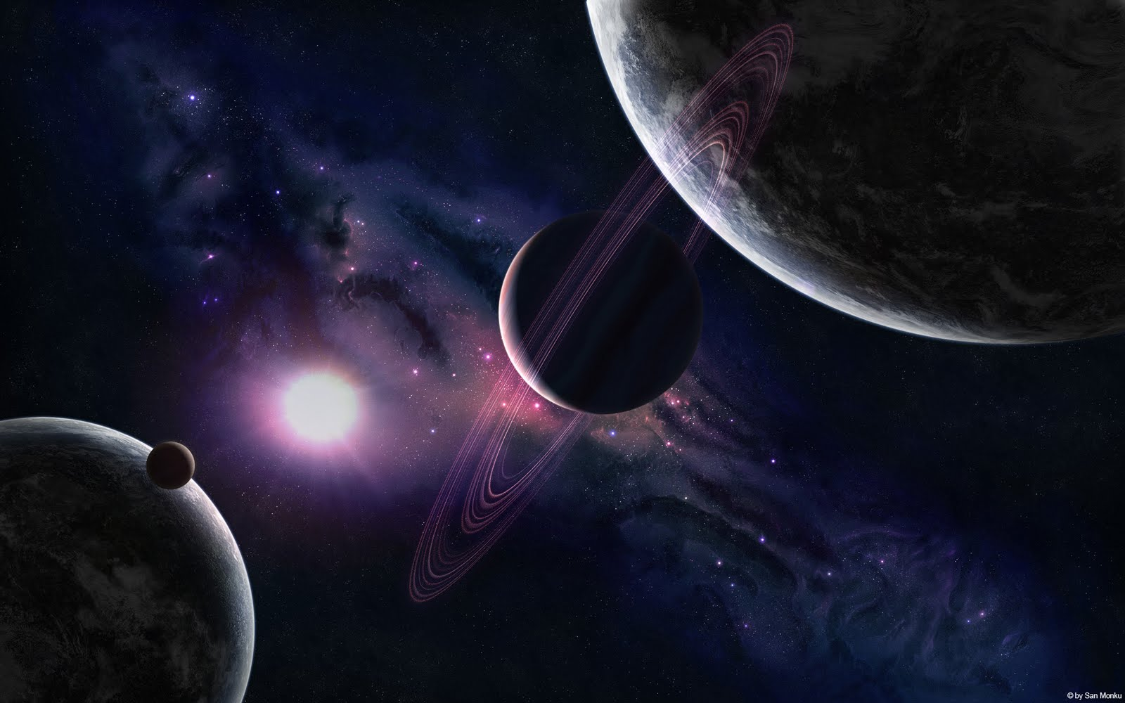 Free Cool Wallpapers 3d Planets Background