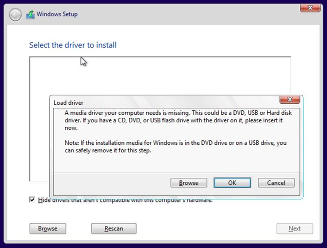 no disk drive how to install drivers