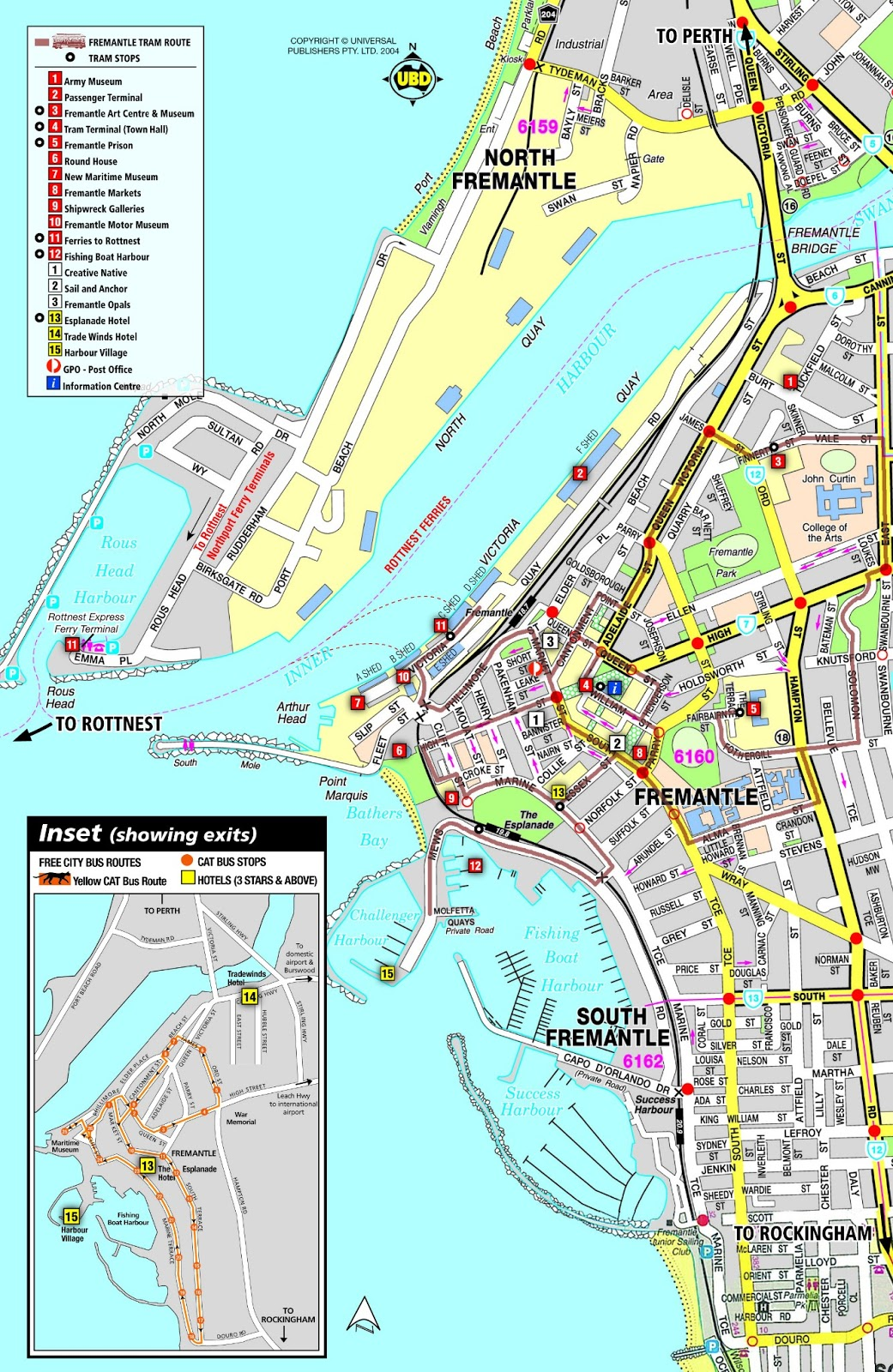 Map of Fremantle The Sheds Guide to Perth