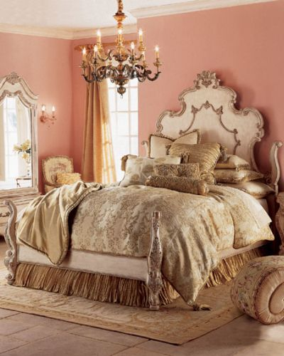 La parigi di maria antonietta un po di versailles a casa for Blue and peach bedroom ideas