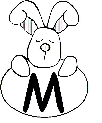 a desenhar letras do alfabeto letra M colorir