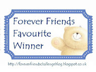Wow I was the Forever Friends Favourite on Challenge 54 Ribbon/Lace