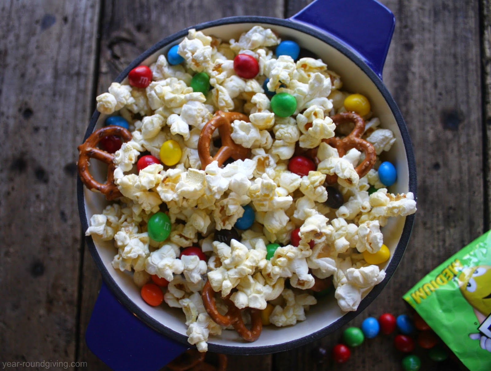 M&M's® Crispy popcorn snack mix recipe