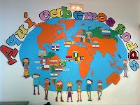 A nuestro colegio acuden niños y niñas de muchos países