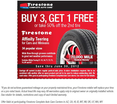 Firestone Tires Coupons June 2012 Update Firestone Tire Coupon