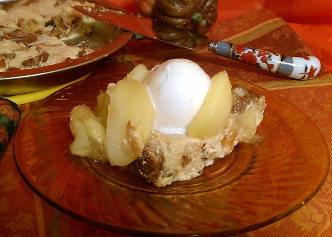 ... copy of the recipe for Autumn Apple Pie Bread Pudding, click HERE