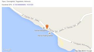 map peta pantai Indrayanti atau Pantai Pulang Syawal