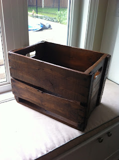 refinished stain crate