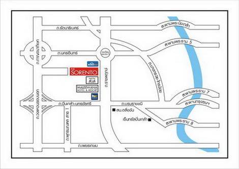 แผนที่การเดินทาง เดอะโซเรนโต้