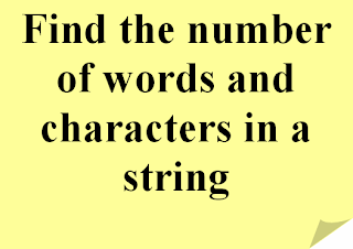Menghitung Jumlah Kata/Karakter Teks, word counter,character counter